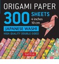 Origami Paper - Japanese Washi Patterns- 4 inch (10cm) 300 sheets