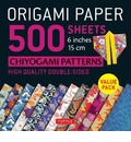 Origami Paper 500 sheets Chiyogami Designs 6 inch 15cm: Instructions for 8 Projects Included